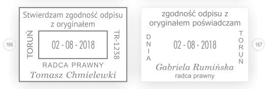 Datownik radcy prawnego - zgodność odpisu z oryginałem.