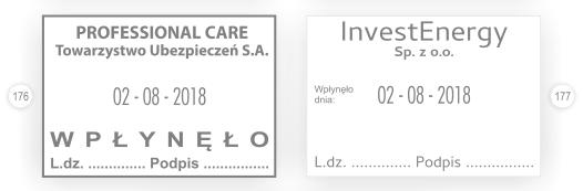 Datownik LDZ - liczba dziennika.