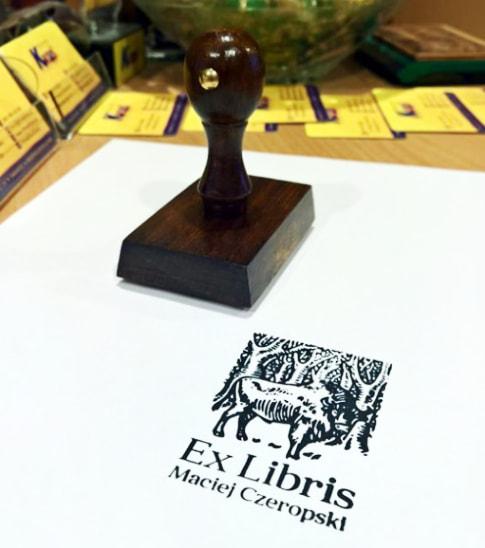 Ex libris personalizowany stempel tradycyjny