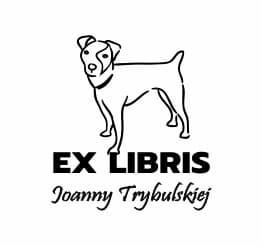 Exlibris wzór pies jack russell terrier.