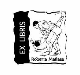 Exlibris wzór karate.