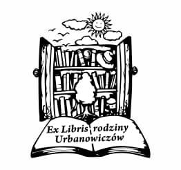 Exlibris wzór regał na książki.