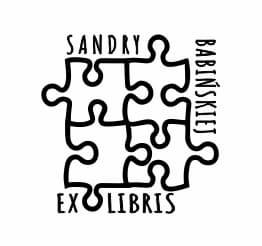 Exlibris wzór puzzle.