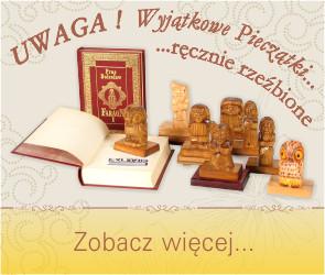 Polecamy na prezent pieczątki exlibris, ręcznie rzeźbione w Toruniu.