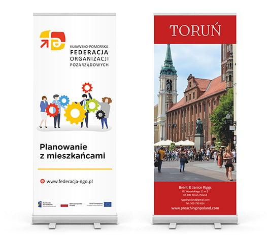 Projekt roll-up organizacji pozarzadowych w Toruniu.