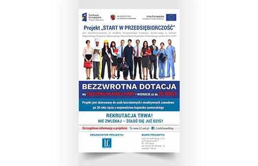 Projekt ulotki dotacje z unii europejskiej.