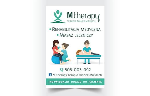 Projekt ulotki reklamowej masaż leczniczy.