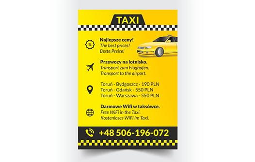 Projekt ulotki taxi.