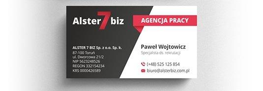 Projekt wizytówki agencji pracy.
