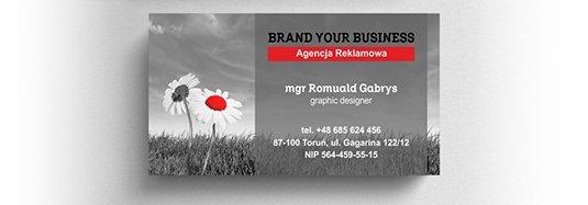 Projekt wizytówki agencji reklamowej.