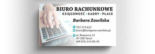 Projekt wizytówki biura rachunkowego.