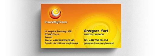 Projekt wizytówki biznesowej w języku angielskim.