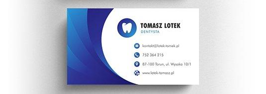 Projekt wizytówki dentysty.