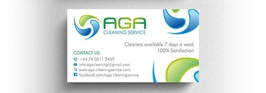 Projekt wizytówki firmy sprzątającej.