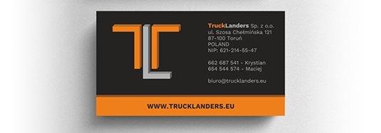 Projekt wizytówki firmy transportowej.