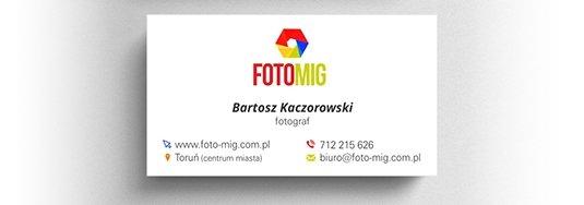 Projekt wizytówki fotografa.