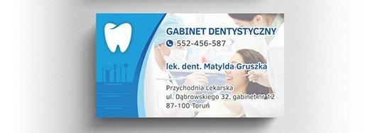 Projekt wizytówki gabinetu dentystycznego.