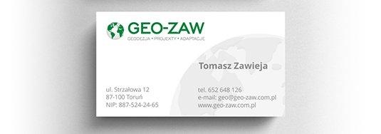 Projekt wizytówki geodezja.