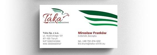 Projekt wizytówki prezesa zarządu.