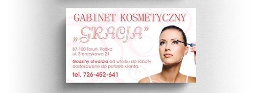 Projekt wizytówki salonu kosmetycznego.