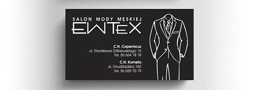Projekt wizytówki salonu mody męskiej.