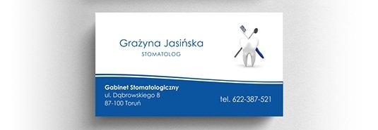 Projekt wizytówki stomatologa.