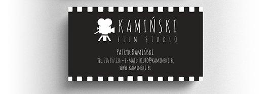 Projekt wizytówki studia filmowego.