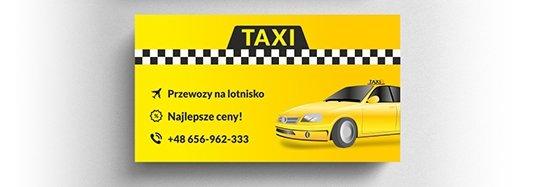 Projekt wizytówki taxi.