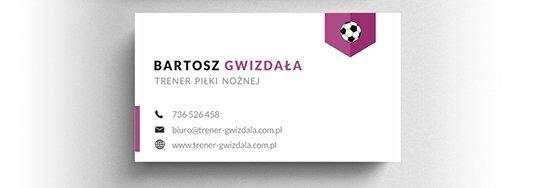 Projekt wizytówki trenera.