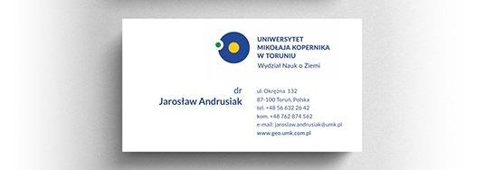 Projekt wizytówki UMK Toruń.