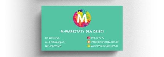 Projekt wizytówki warsztaty dla dzieci.