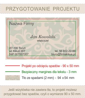 Jak przygotować projekt wizytówki do druku.