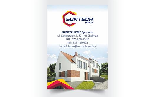 Reklamowa ulotka firmy architektonicznej.