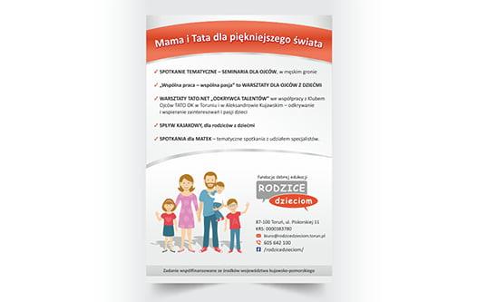 Ulotka reklamowa fundacji edukacyjnej.