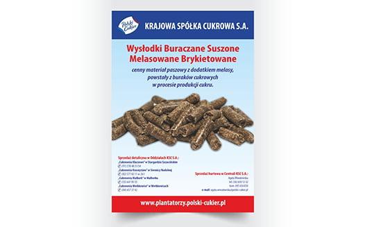 Ulotka zaprojektowana dla polskiego cukru.
