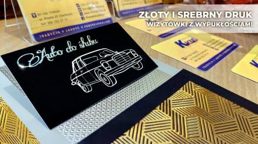 Wizytówki złote i srebrne w Toruniu.