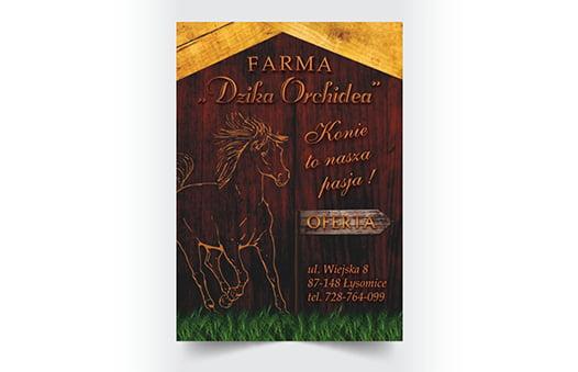 Zaprojektowanie ulotki stadniny koni.